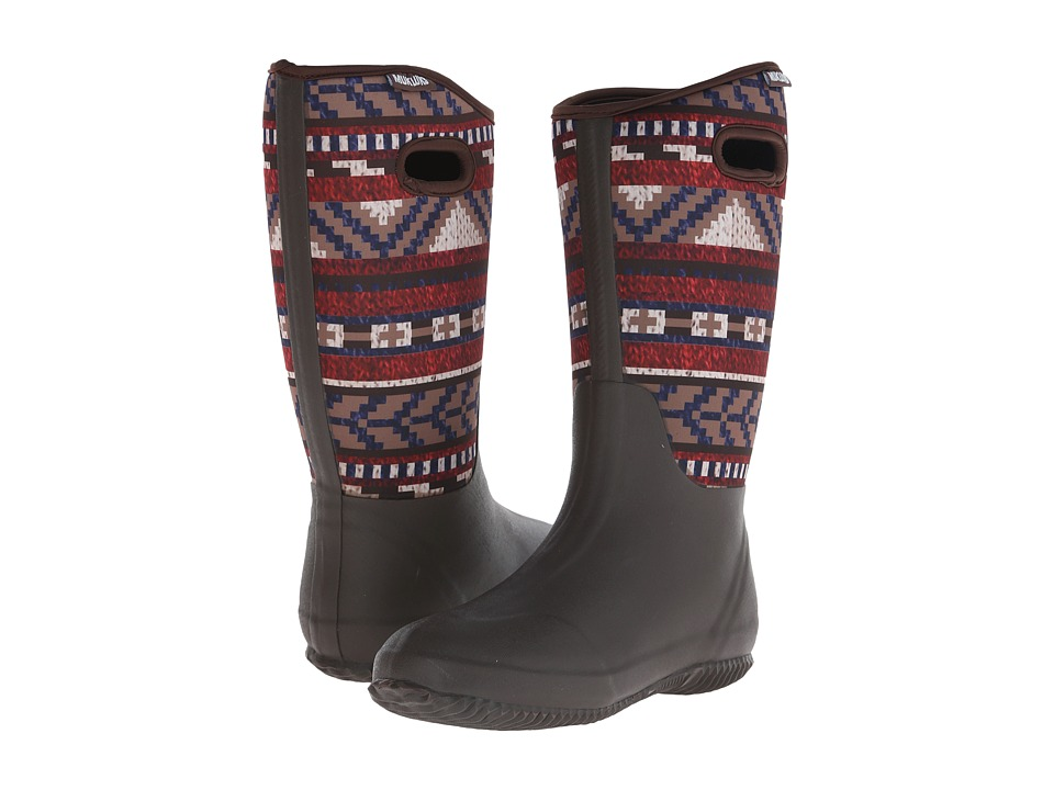MUK LUKS - Karen Rain Boot (Dark Brown) Women
