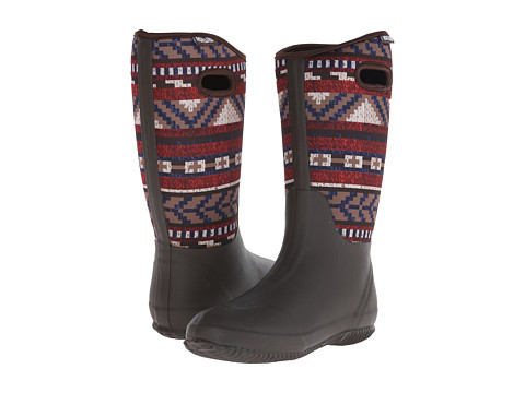 MUK LUKS - Karen Rain Boot (Dark Brown) Women's Rain Boots