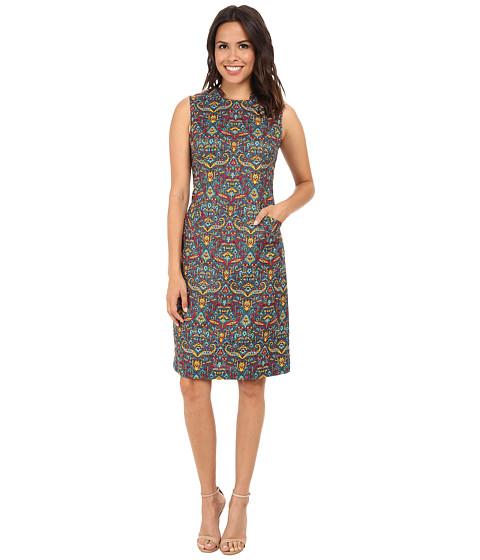 Anne Klein - Tapestry Print Mod Sheath Dress (Mallard) Women's Dress