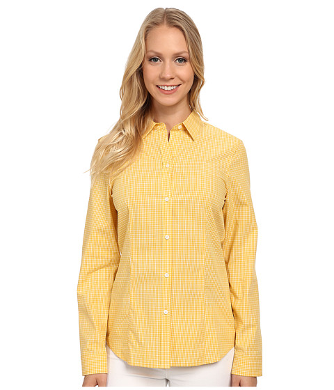 Anne Klein - Gingham Check Button Down Shirt (Goldenrod) Women