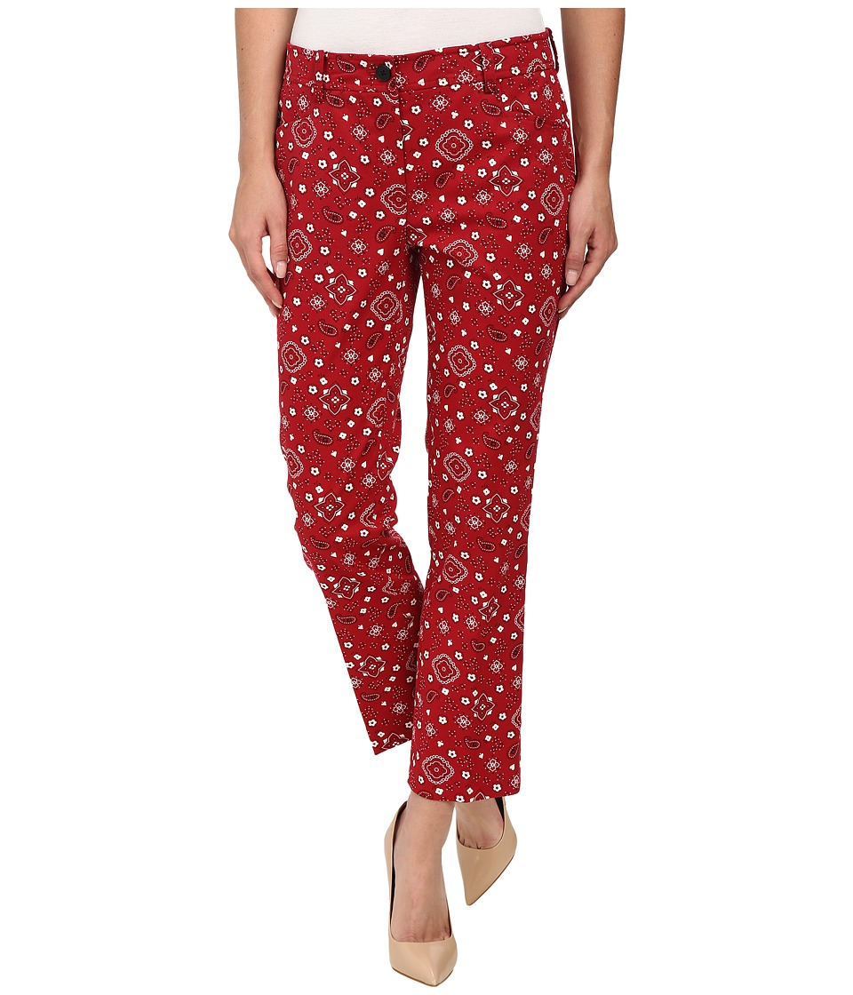 Anne Klein - Bandana Printed Pants (Barn Red) Women's Casual Pants