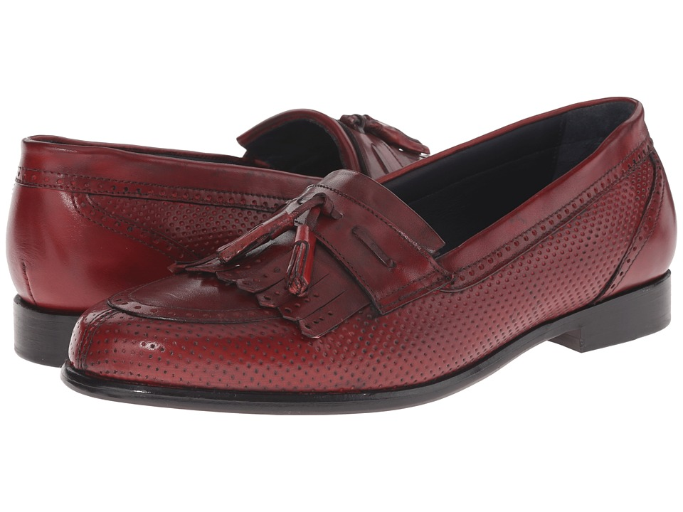 Messico - Roman (Red Leather) Men's Dress Flat Shoes