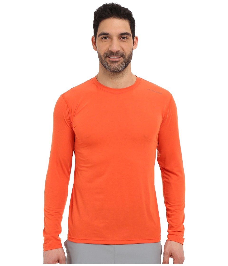 Brooks - Distance Long Sleeve Top (Heather Desert) Men's Long Sleeve Pullover