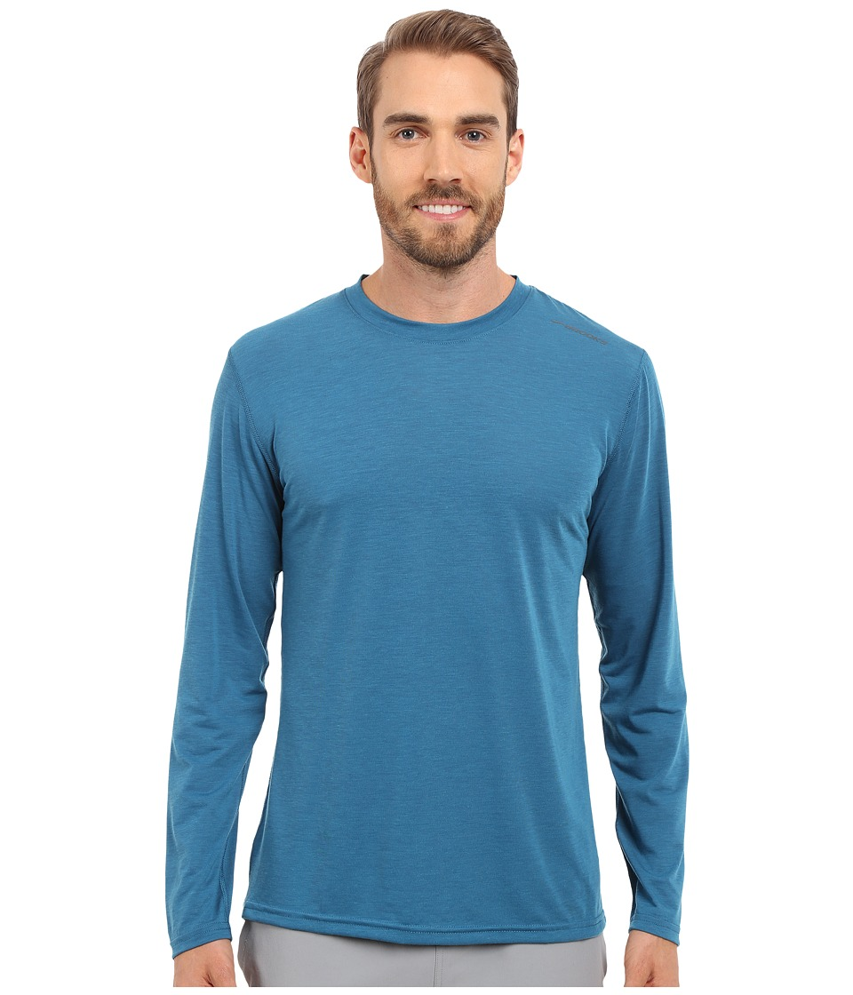 Brooks - Distance Long Sleeve Top (Heather River) Men's Long Sleeve Pullover