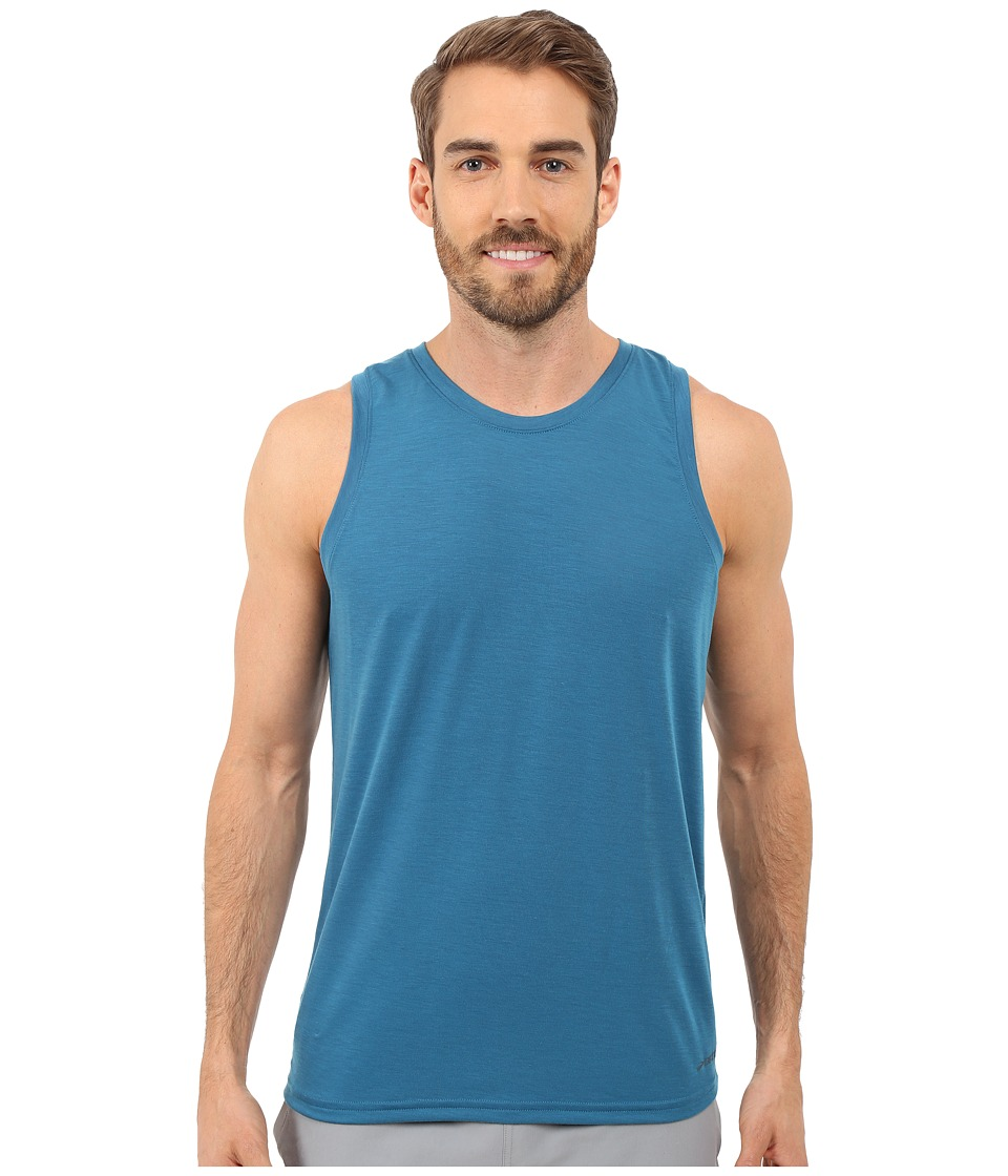 Brooks - Distance Tank Top (Heather River) Men's Sleeveless