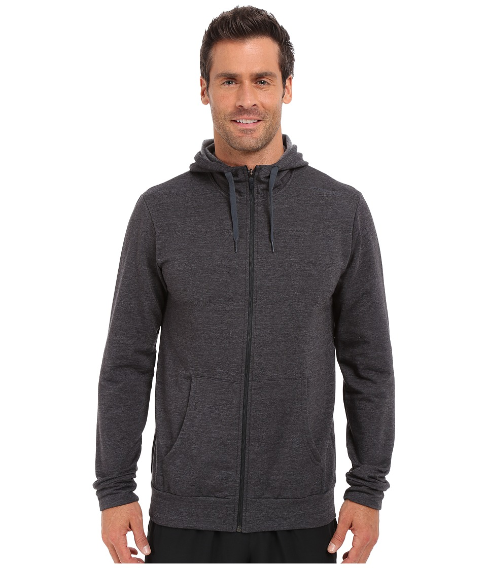 Brooks - Distance Hoodie (Heather Black) Men's Sweatshirt