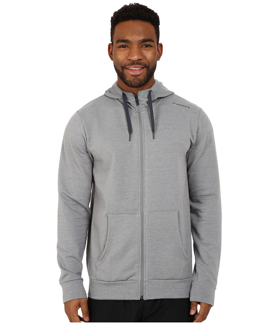 Brooks - Distance Hoodie (Heather Oxford) Men's Sweatshirt