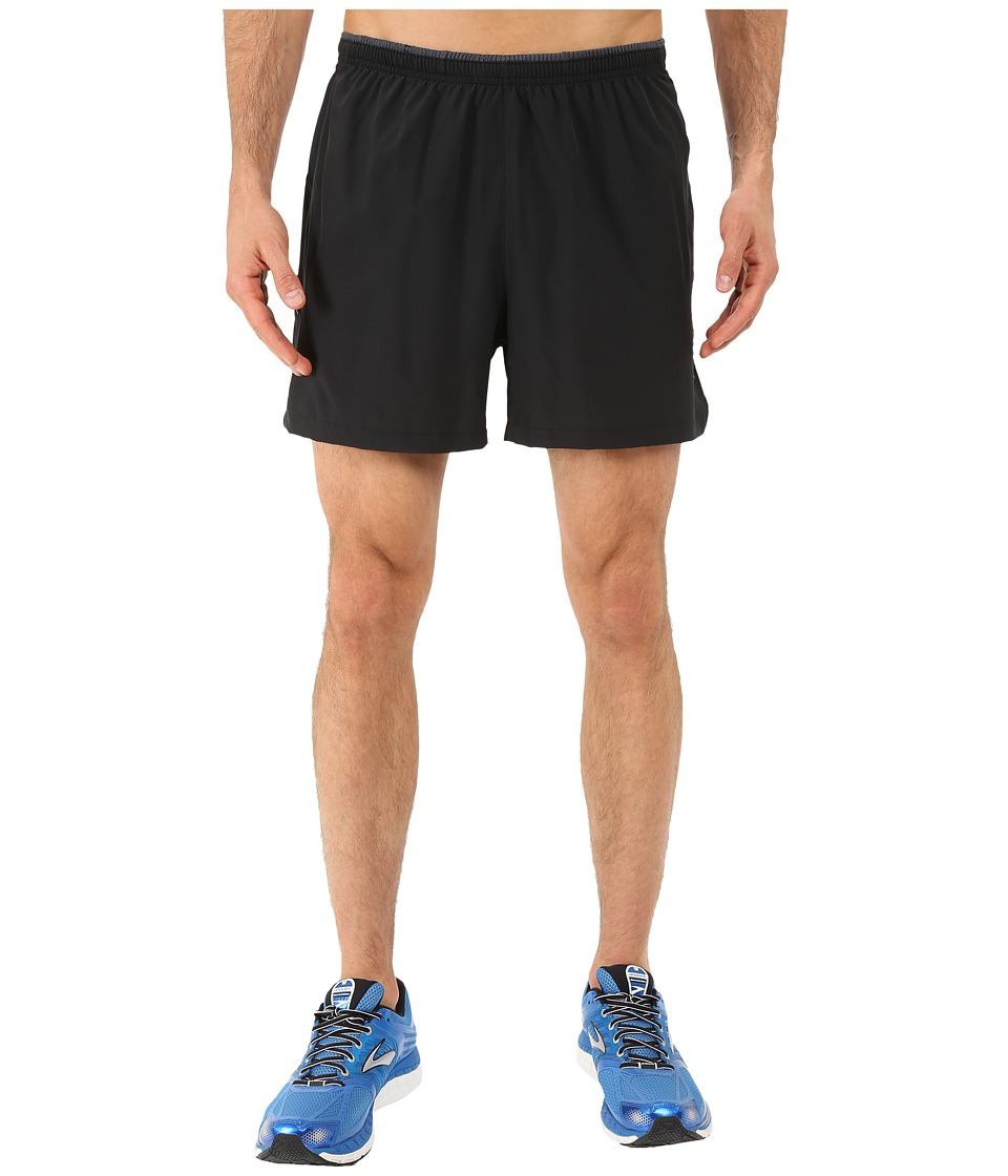Brooks - Sherpa 5 2-in-1 Shorts (Black) Men's Shorts