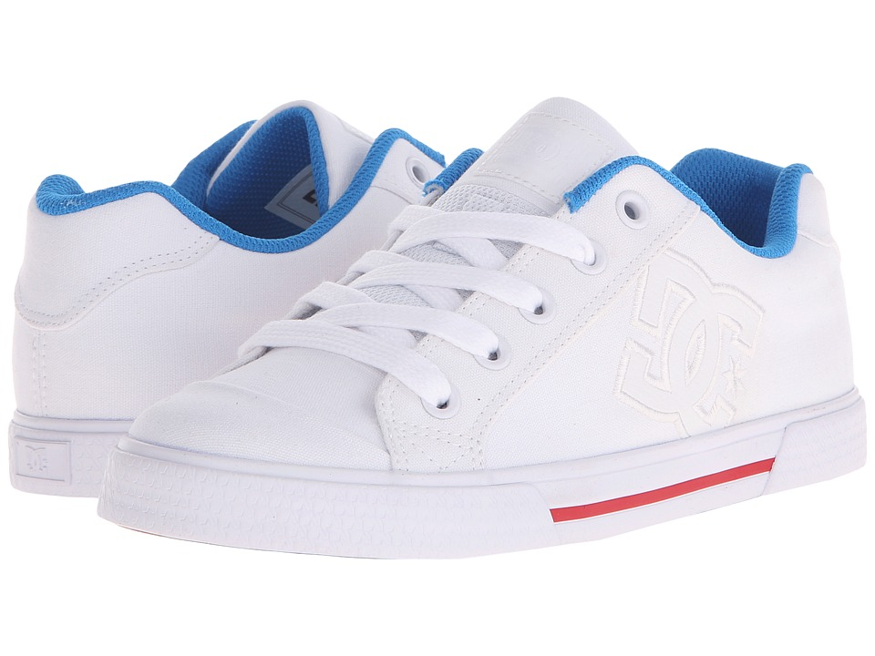 DC - Chelsea TX (White/Red/Blue) Women's Skate Shoes