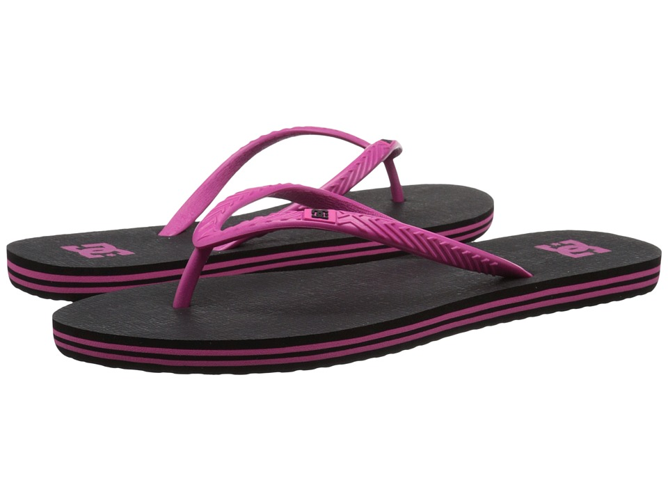 DC - Spray (Black/Pink) Women's Sandals