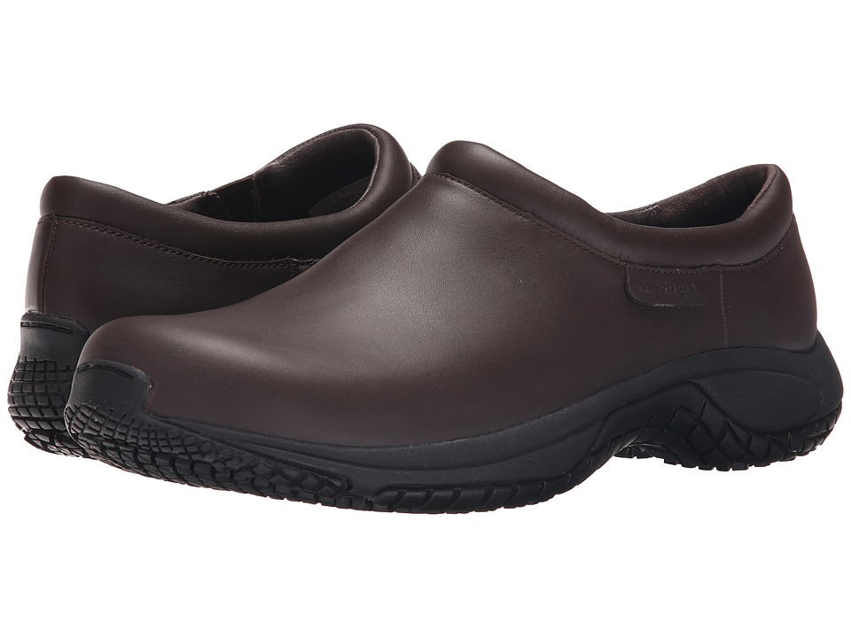 Merrell - Encore Moc Pro Grip (Espresso) Men's Moccasin Shoes