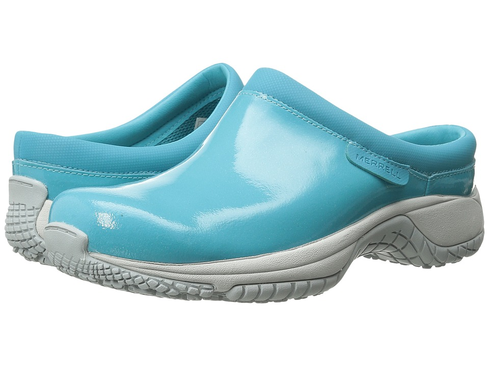 Merrell - Encore Slide Pro Shine (Scuba Blue) Women's Slip on Shoes
