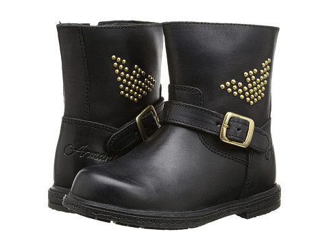 Armani Junior - Studded Motorcycle Boot (Toddler/Little Kid) (Black) Girls Shoes