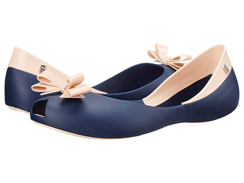 Melissa Shoes - Queen (Navy/Nude) Women's Flat Shoes