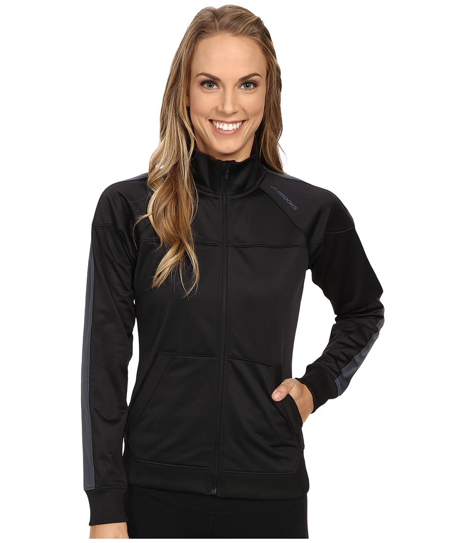 Brooks - Rally Jacket (Black/Asphalt) Women's Coat