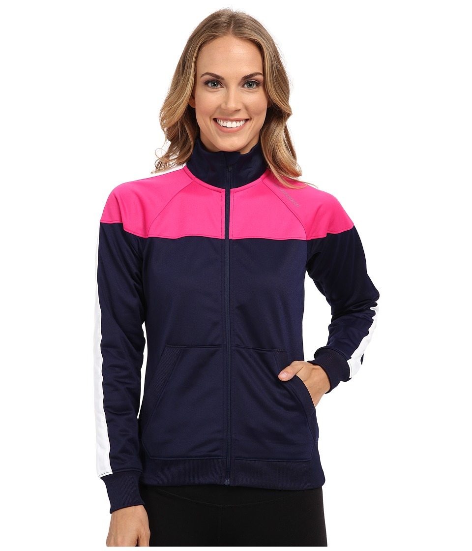 Brooks - Rally Jacket (Navy/Bloom) Women's Coat
