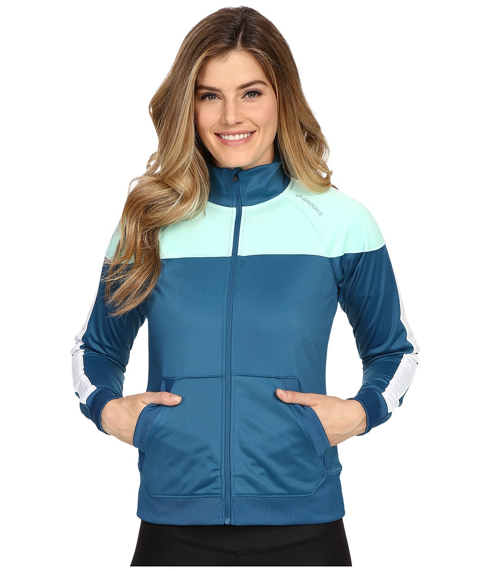 Brooks - Rally Jacket (River/Surf) Women's Coat