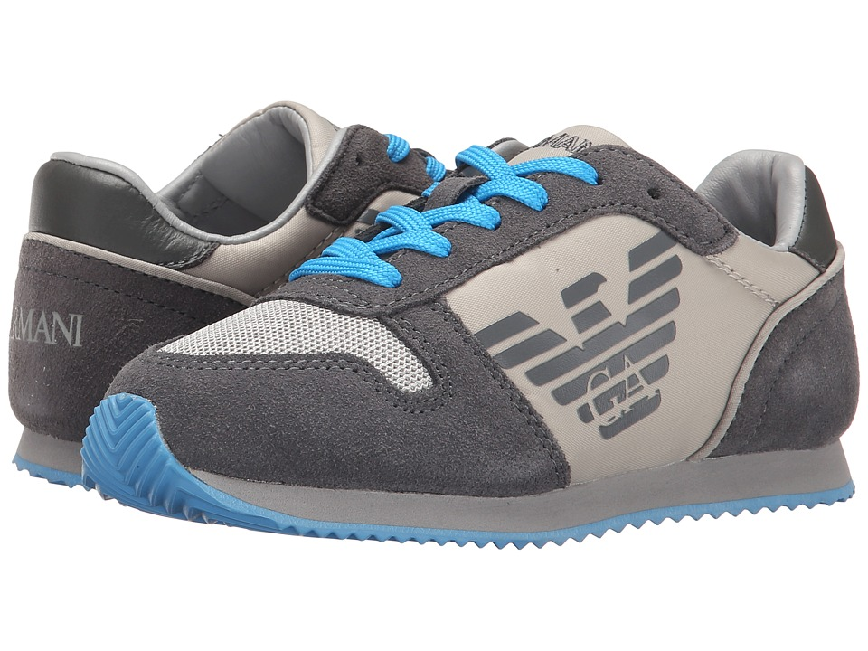 Armani Junior - Basic Sneaker (Little Kid/Big Kid) (Grey) Boy's Shoes