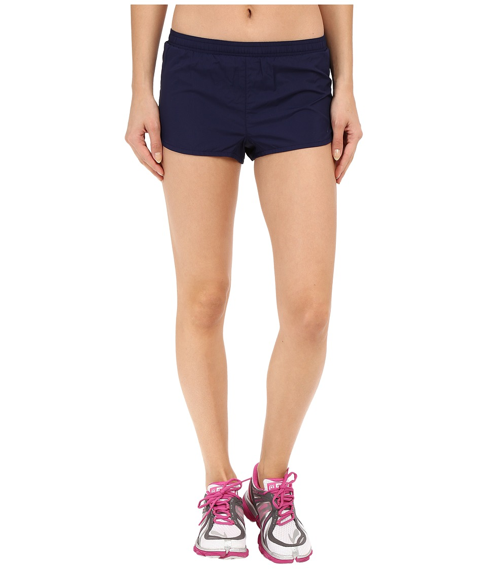 Brooks - Racey 2 Split Shorts (Navy) Women's Shorts