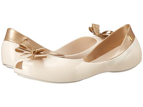 Melissa Shoes - Queen (Beige/Gold) Women's Flat Shoes