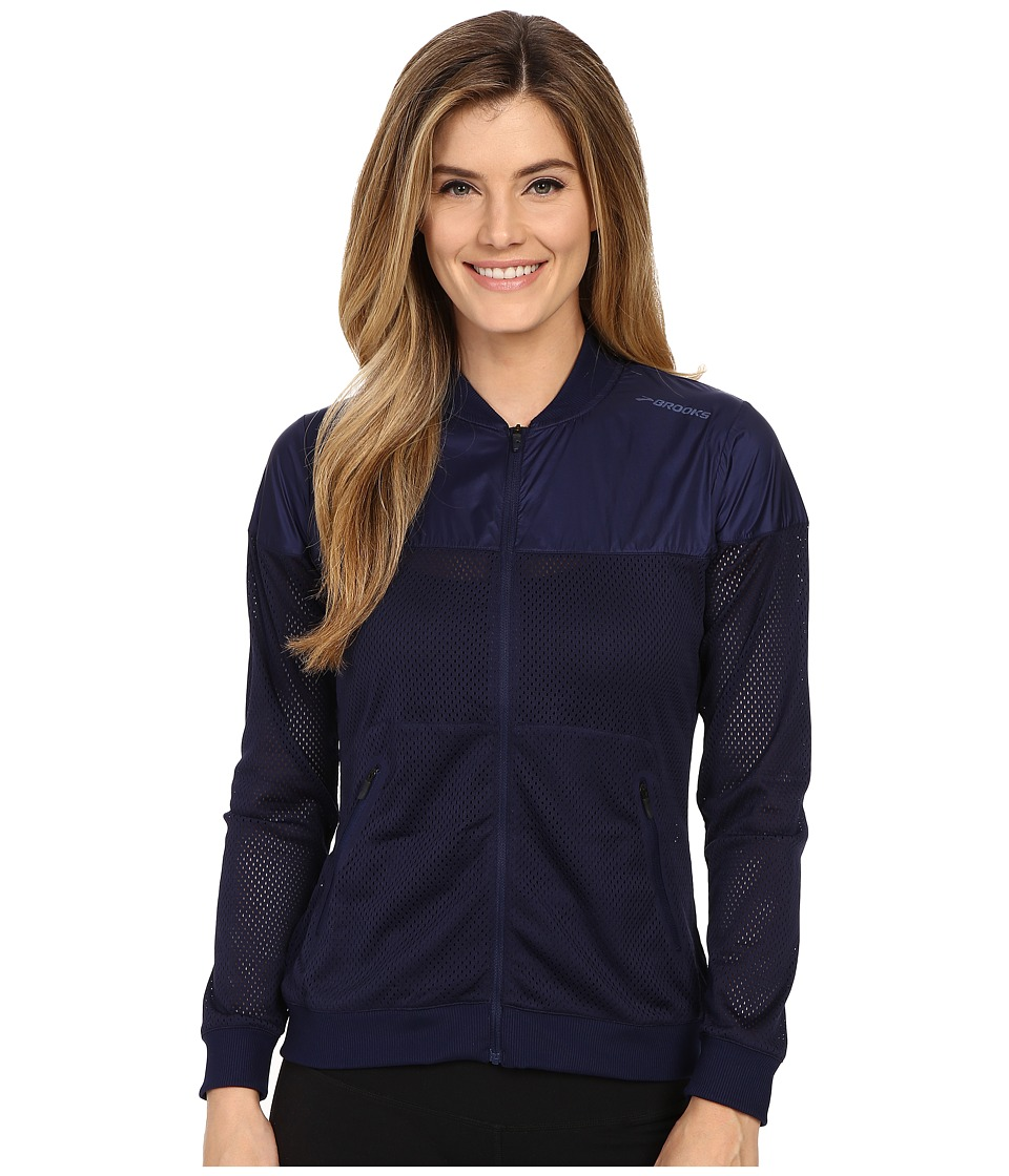 Brooks - Run-Thru Jacket (Navy) Women's Coat