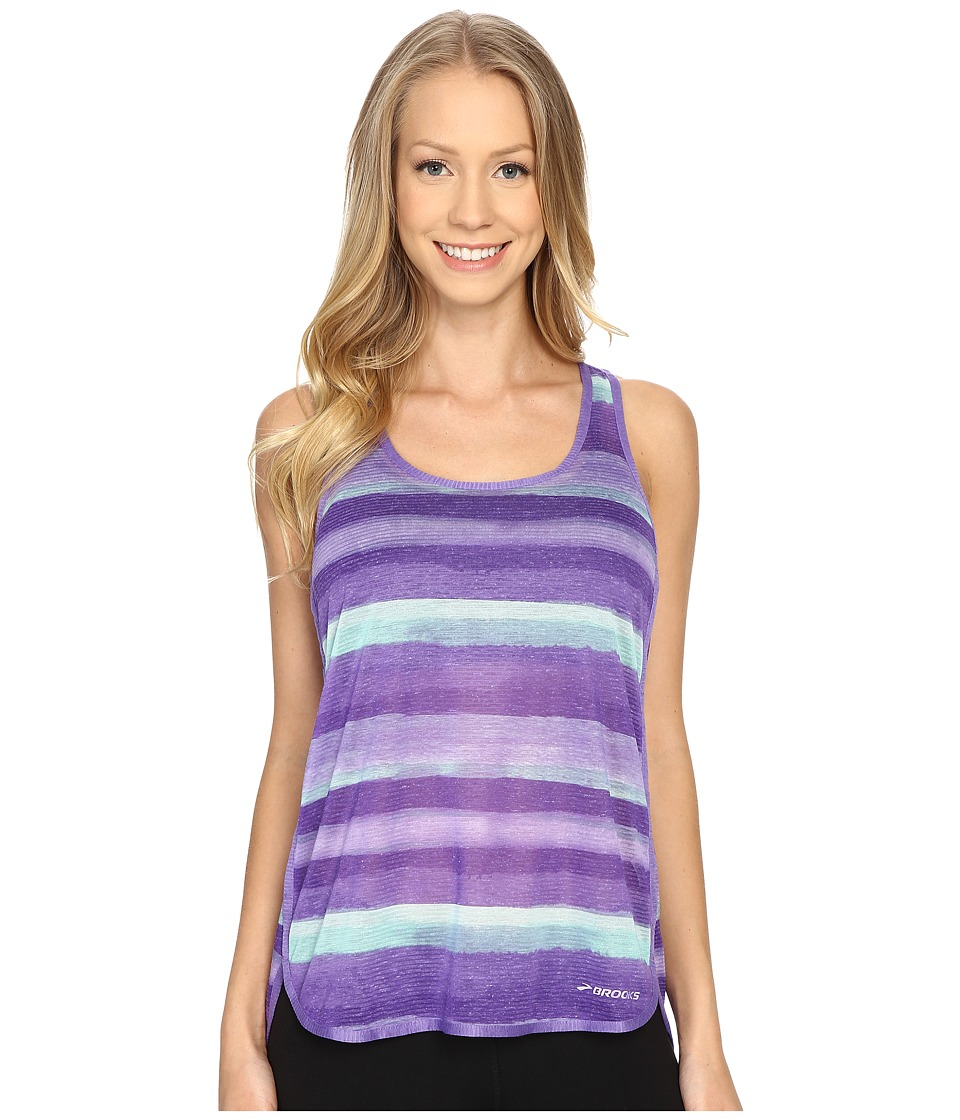 Brooks - Ghost Racerback Top (Dusk Scape) Women's Sleeveless