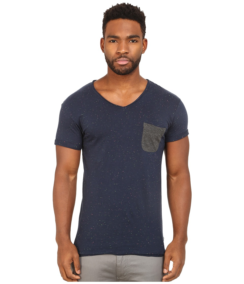 Eleven Paris - Babico Tee (Motteled Navy) Men's T Shirt