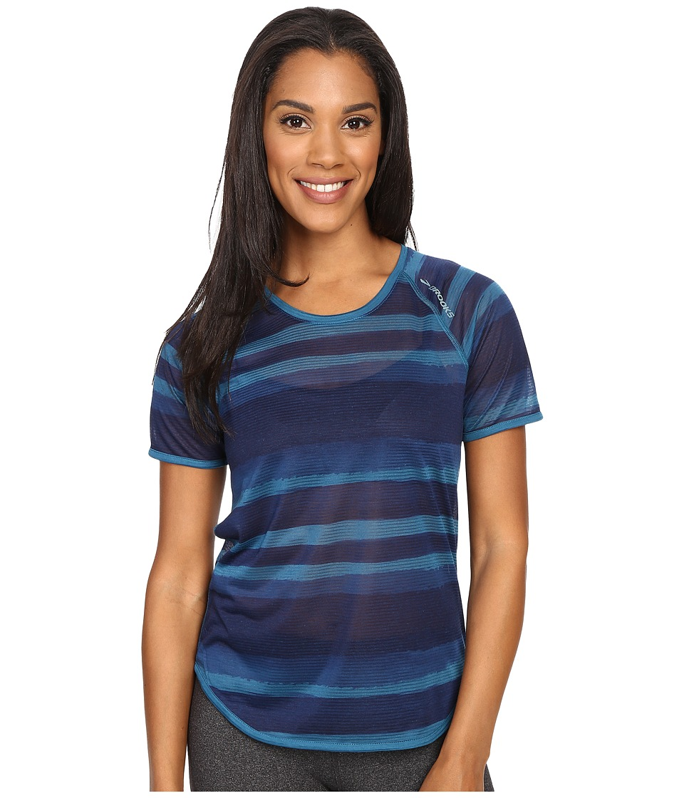 Brooks - Ghost Short Sleeve Top (River Scape) Women's Short Sleeve Pullover