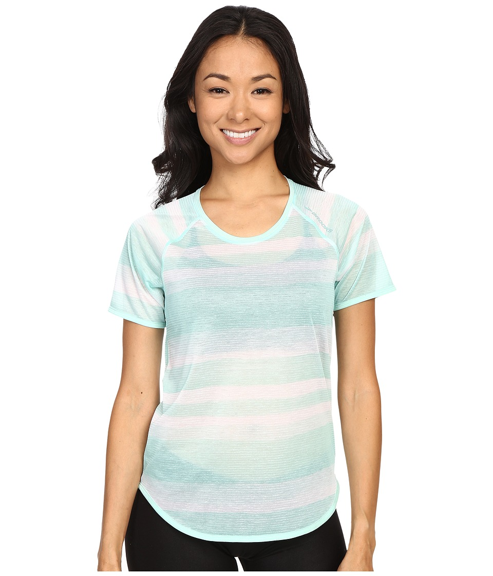 Brooks - Ghost Short Sleeve Top (Surf Scape) Women's Short Sleeve Pullover