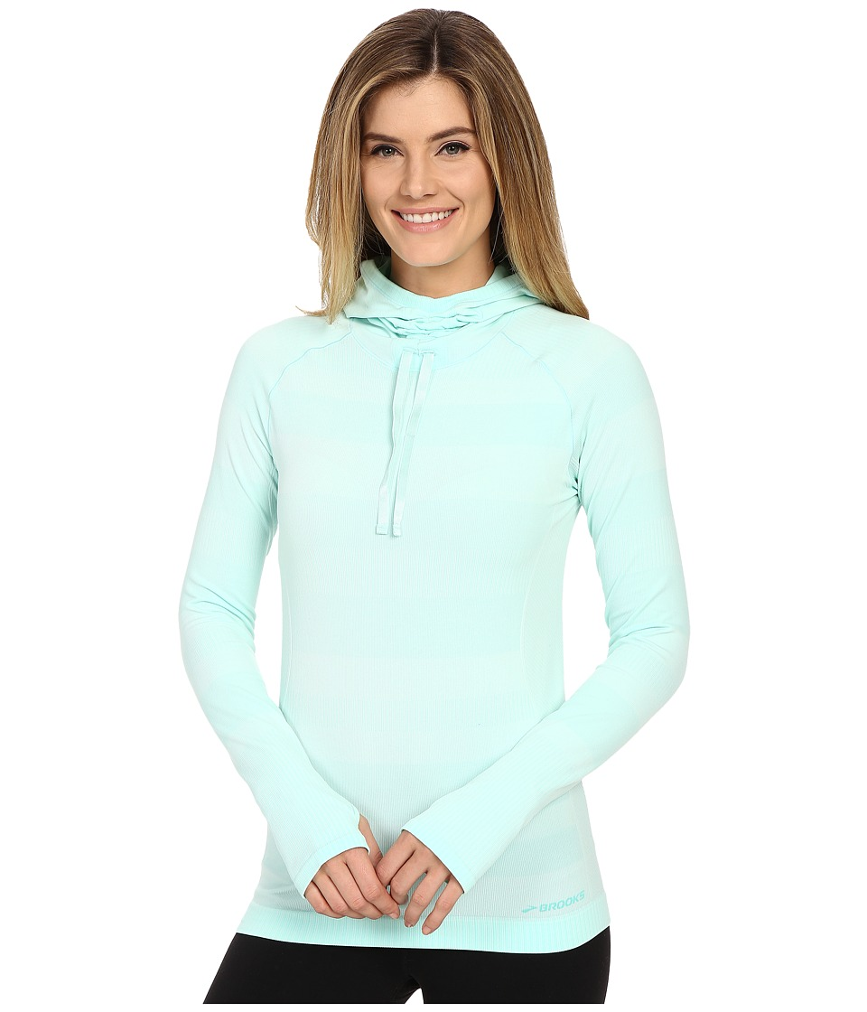 Brooks - Streaker Hoodie (Heather Surf) Women's Sweatshirt