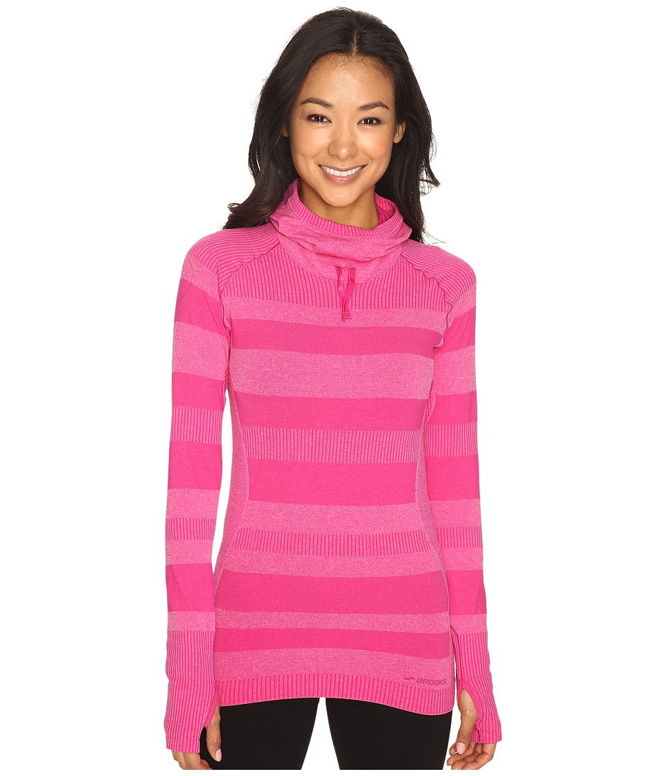 Brooks Streaker Hoodie (Heather Bloom) Women