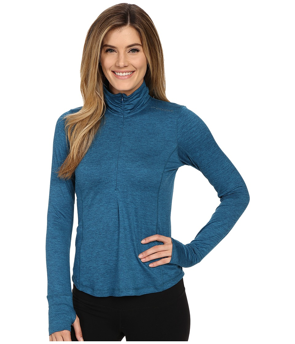 Brooks - Dash 1/2 Zip (Heather River) Women's Long Sleeve Pullover
