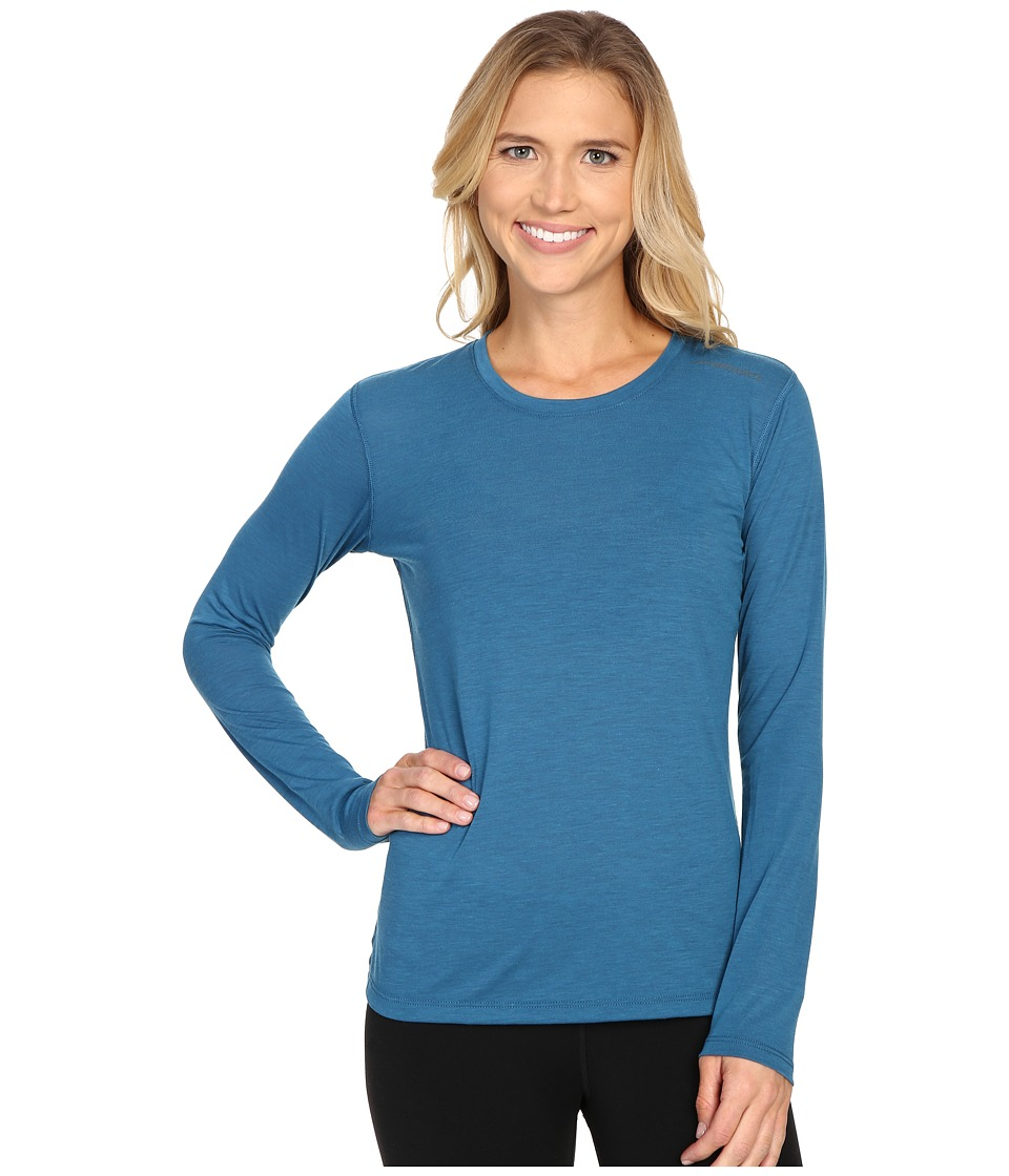 Brooks - Distance Long Sleeve Top (Heather River) Women's Long Sleeve Pullover