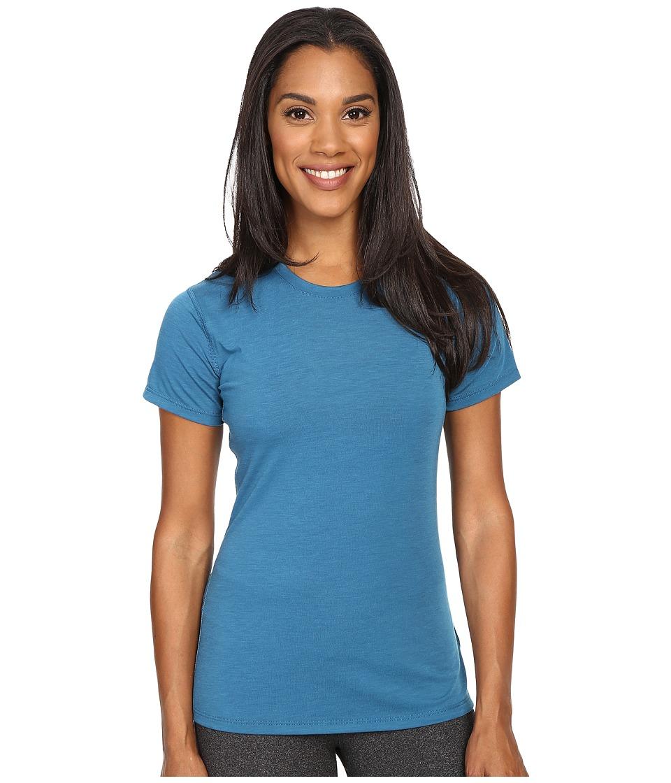 Brooks - Distance Short Sleeve Top (Heather River) Women's Short Sleeve Pullover