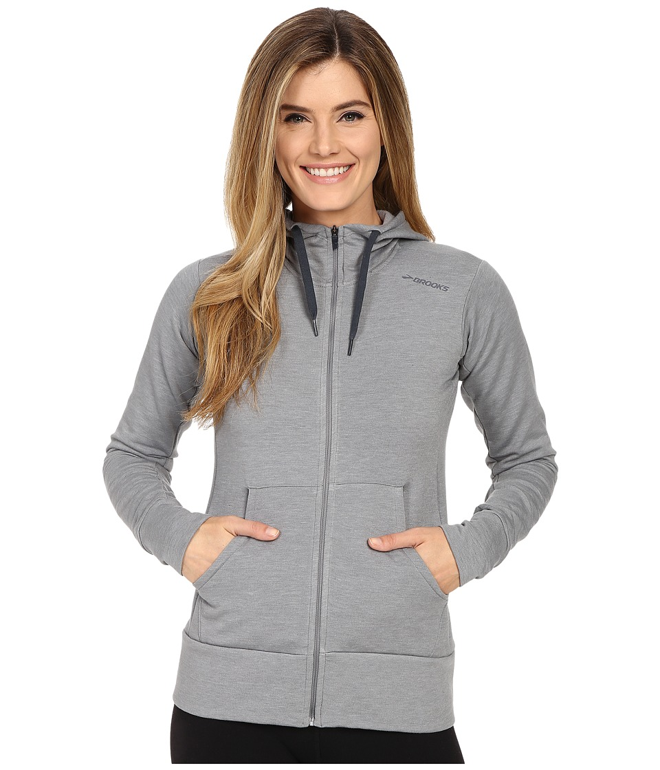 Brooks - Distance Hoodie (Heather Oxford) Women's Sweatshirt