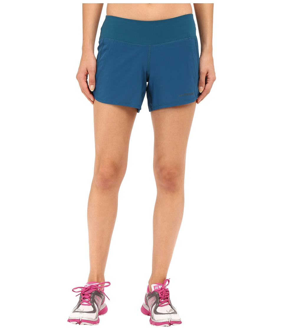 Brooks - Chaser 5 Shorts (River) Women's Shorts