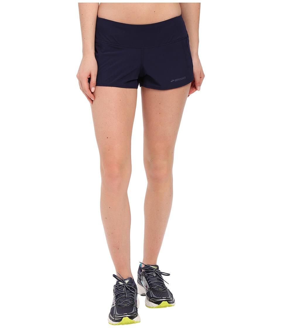 Brooks - Chaser 3 Shorts (Navy) Women's Shorts