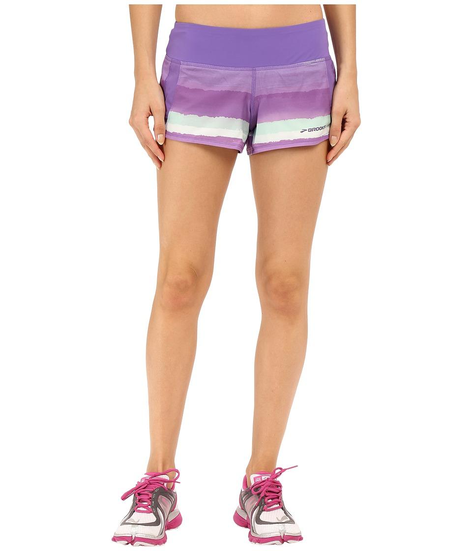 Brooks - Chaser 3 Shorts (Dusk Scape) Women's Shorts