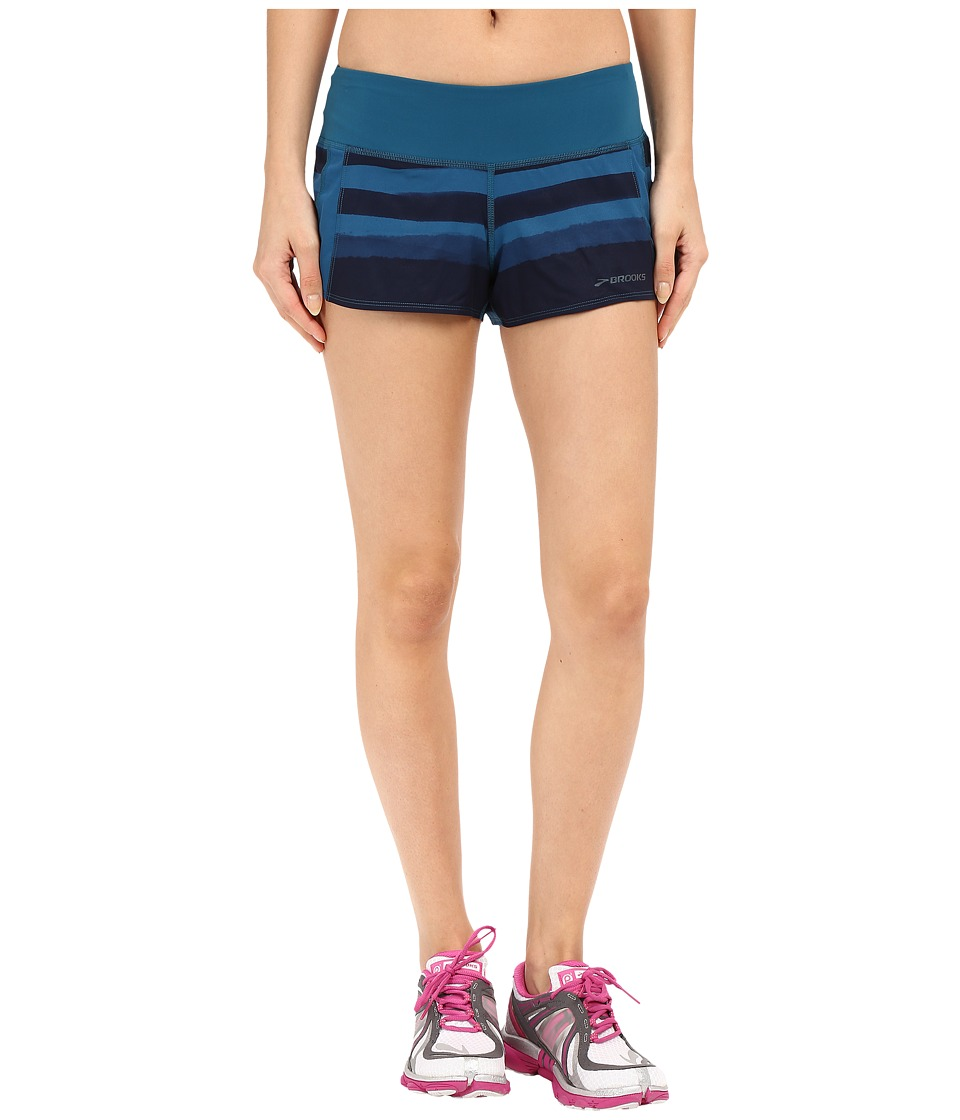 Brooks - Chaser 3 Shorts (River Scape) Women's Shorts