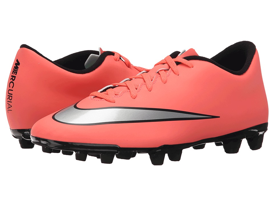 Nike - Mercurial Vortex II FG (Bright Mango/Hyper Turquoise/Metallic Silver) Men's Soccer Shoes