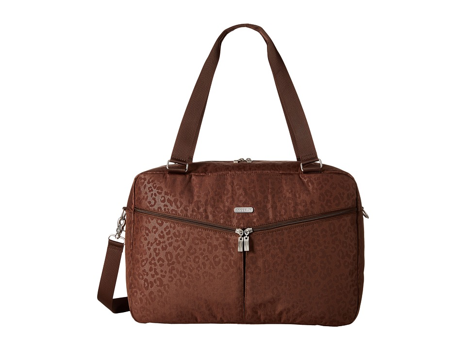 Baggallini - Transport Carryall (Mocha/Cheetah) Weekender/Overnight Luggage