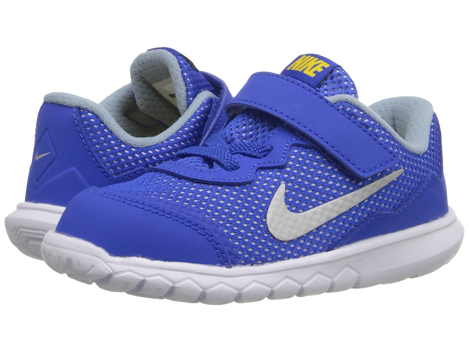 Nike Kids Flex Experience 4 (Infant/Toddler) (Hyper Cobalt/Varsity Maize/White/Metallic Silver) Boys Shoes