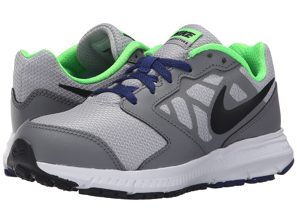 Nike Kids - Downshifter 6 (Little Kid/Big Kid) (Wolf Grey/Deep Royal Blue/White/Black) Boys Shoes