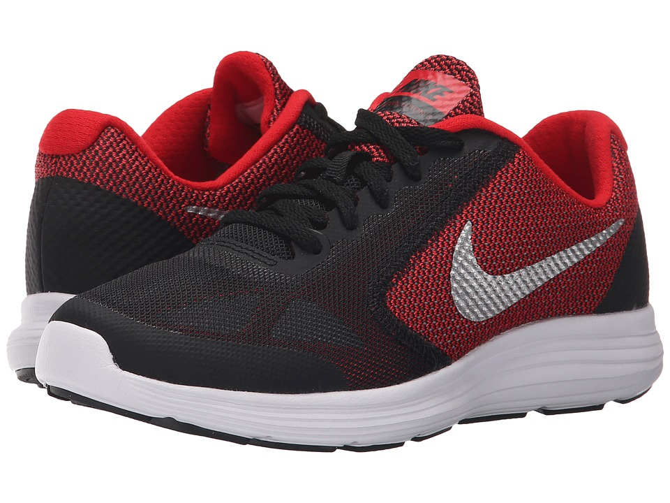 Nike Kids Revolution 3 (Big Kid) (University Red/Black/White/Metallic Silver) Boys Shoes