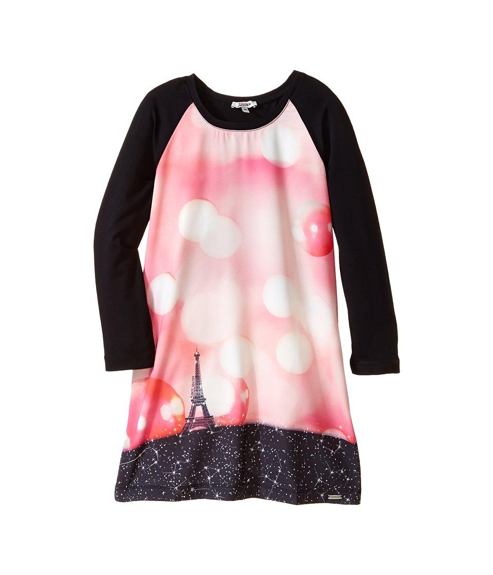 Junior Gaultier - Pensee Print Dress (Big Kid) (Black) Girl's Dress