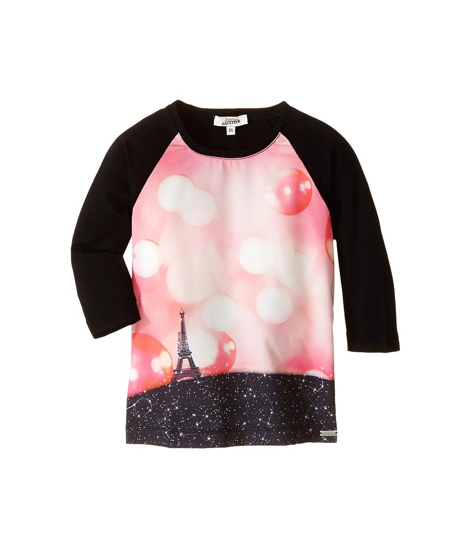 Junior Gaultier - Pensee Print Dress (Toddler/Little Kid) (Black) Girl's Dress