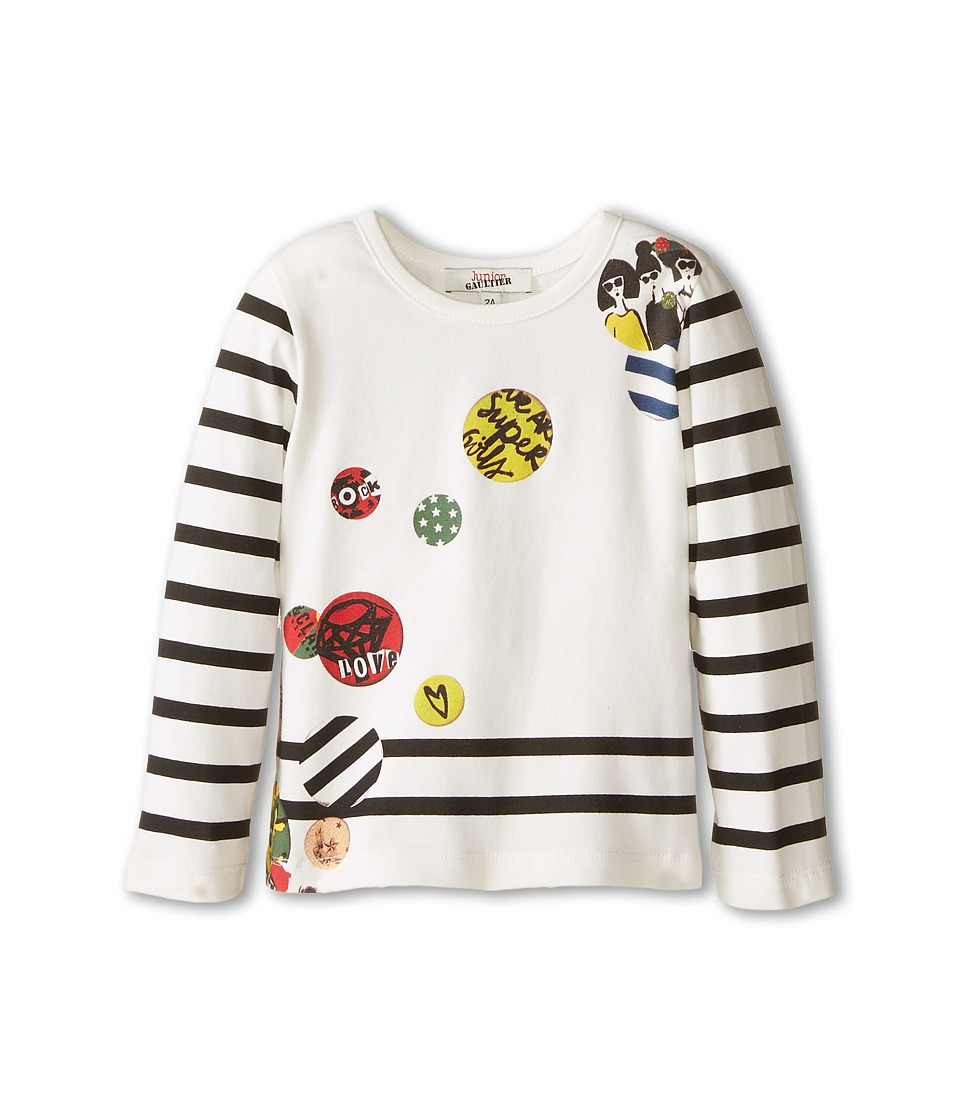 Junior Gaultier - Paya Tee Shirt (Toddler/Little Kid) (Ecru) Girl