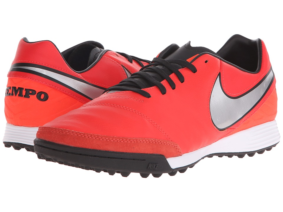 Nike - Tiempo Mystic V TF (Light Crimson/Total Crimson/Metallic Silver) Men's Soccer Shoes
