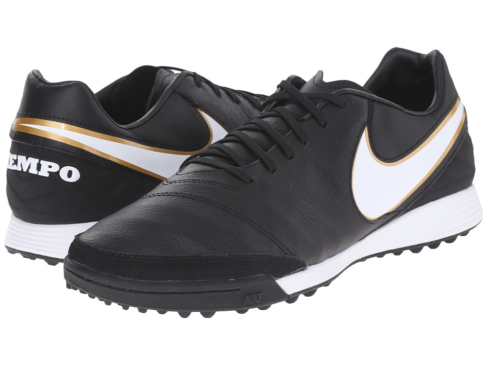 Nike - Tiempo Mystic V TF (Black/White) Men's Soccer Shoes