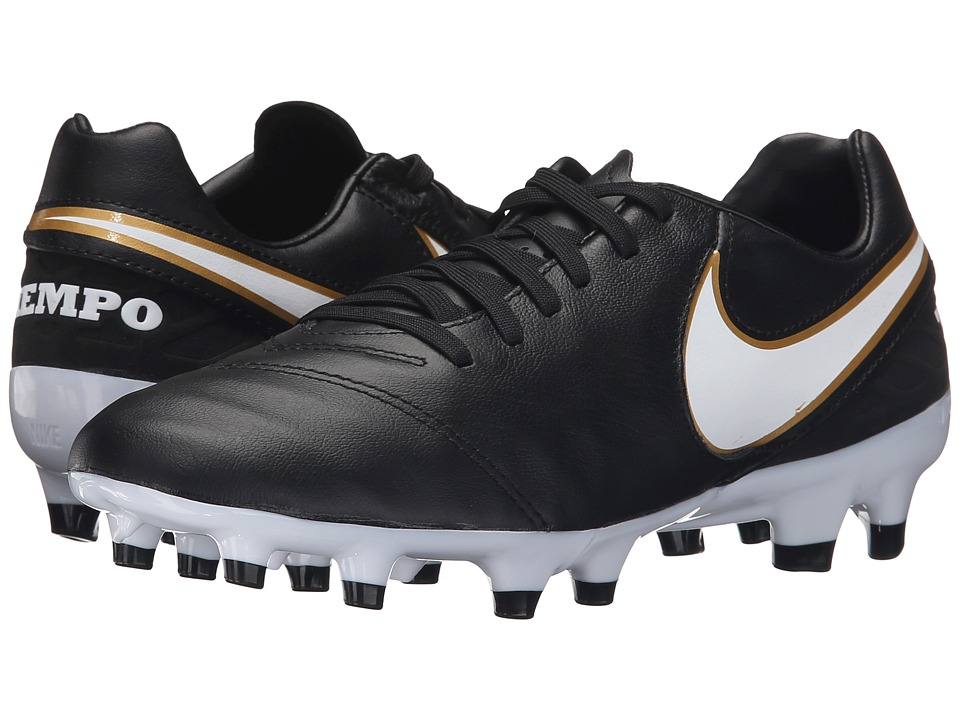 Nike - Tiempo Mystic V FG (Black/White) Men's Soccer Shoes